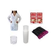 Kit Jaleco C/ Henna e Acessórios Para Design de Sobrancelhas