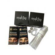 Kit mix Henna e acessórios para design de Sobrancelha - 6 unid.