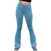 CALÇA LEGGING FLARE JUST FIT - MESCLA