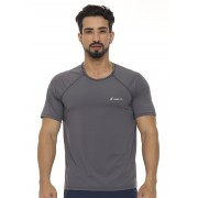 CAMISETA MASCULINA BASIC JUST FIT - GRAFITE