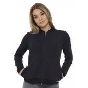 JAQUETA BOMBER FEMININA JUST FIT - PRETO