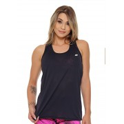 REGATA BATINHA LISA FEMININA JUST FIT - PRETO