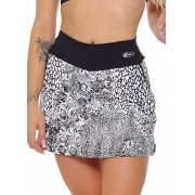 SHORTS SAIA FIT UP JUS FIT - PRETO/BRANCO