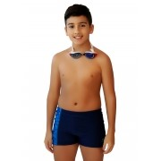 SUNGA BOXER JÚNIOR XTRA LIFE BEACH JUST FIT - MARINHO/ESTAMPADO