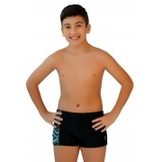 SUNGA BOXER JÚNIOR XTRA LIFE BEACH JUST FIT - PRETO/ESTAMPADO