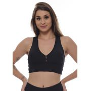 TOP NADADOR NEW ZEALAND JUST FIT - PRETO