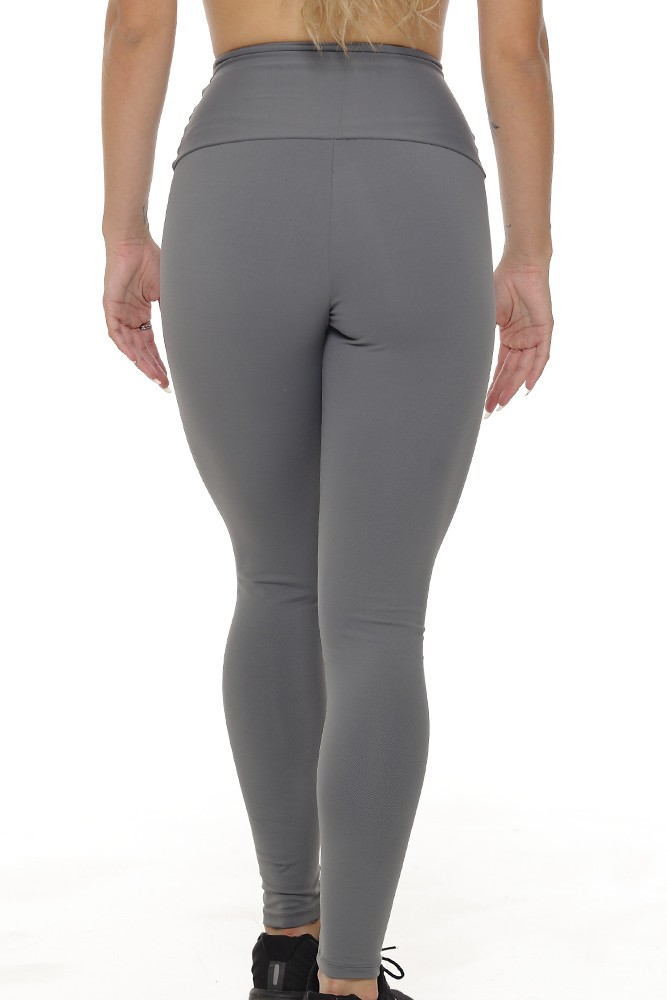 CALÇA FUSÔ CÓS ALTO POWER ELASTIC FEMININA JUST FIT - GRAFITE