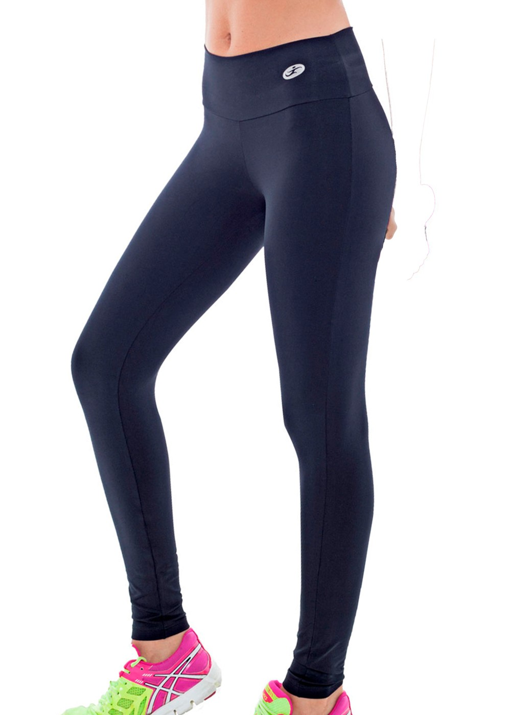 CALÇA LEGGING LISA SUPPLEX FEMININA JUST FIT - PRETO
