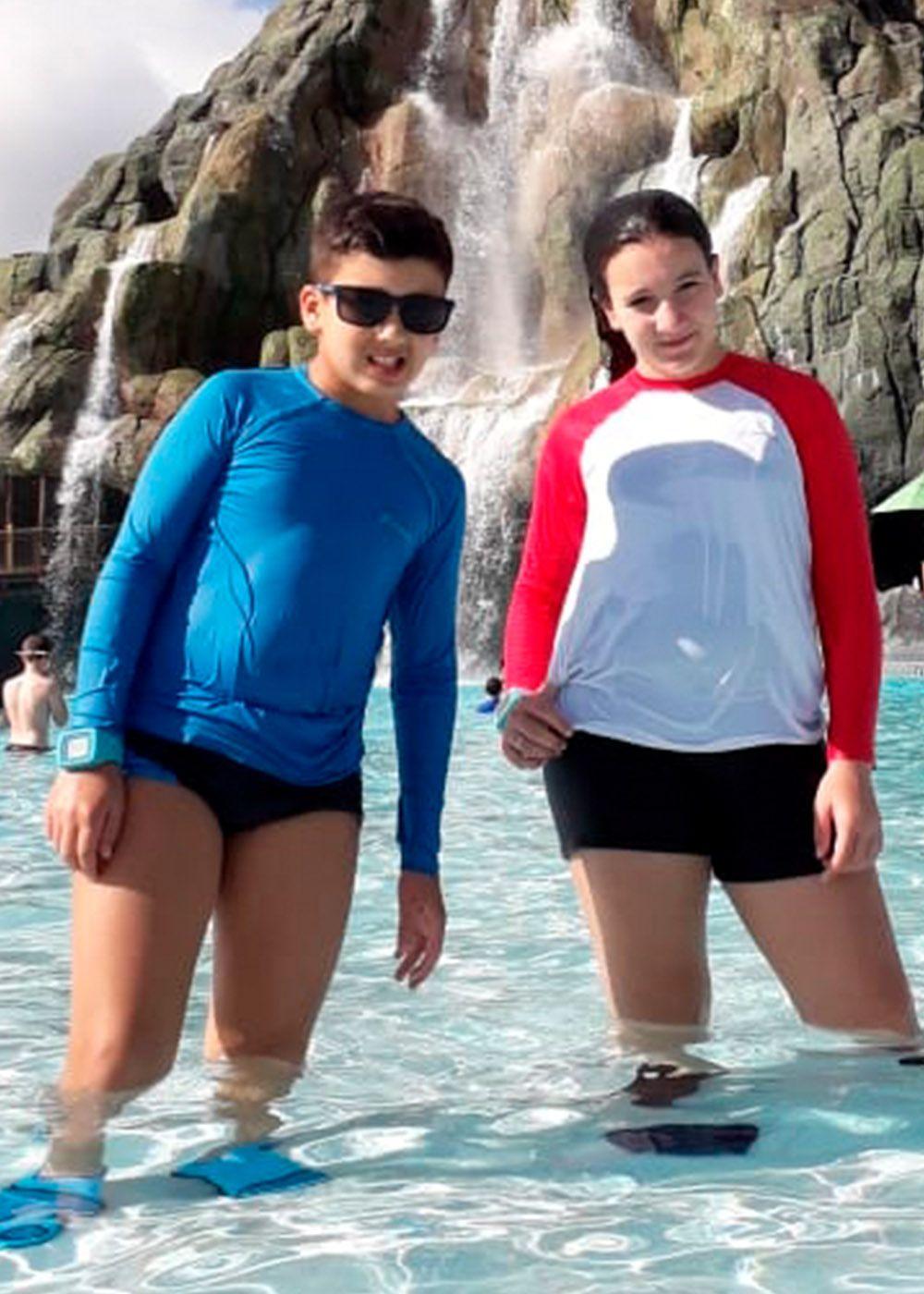 CAMISETA UV PROTECTION INFANTIL MANGA LONGA RAGLAN - BRANCO/FRUTILY