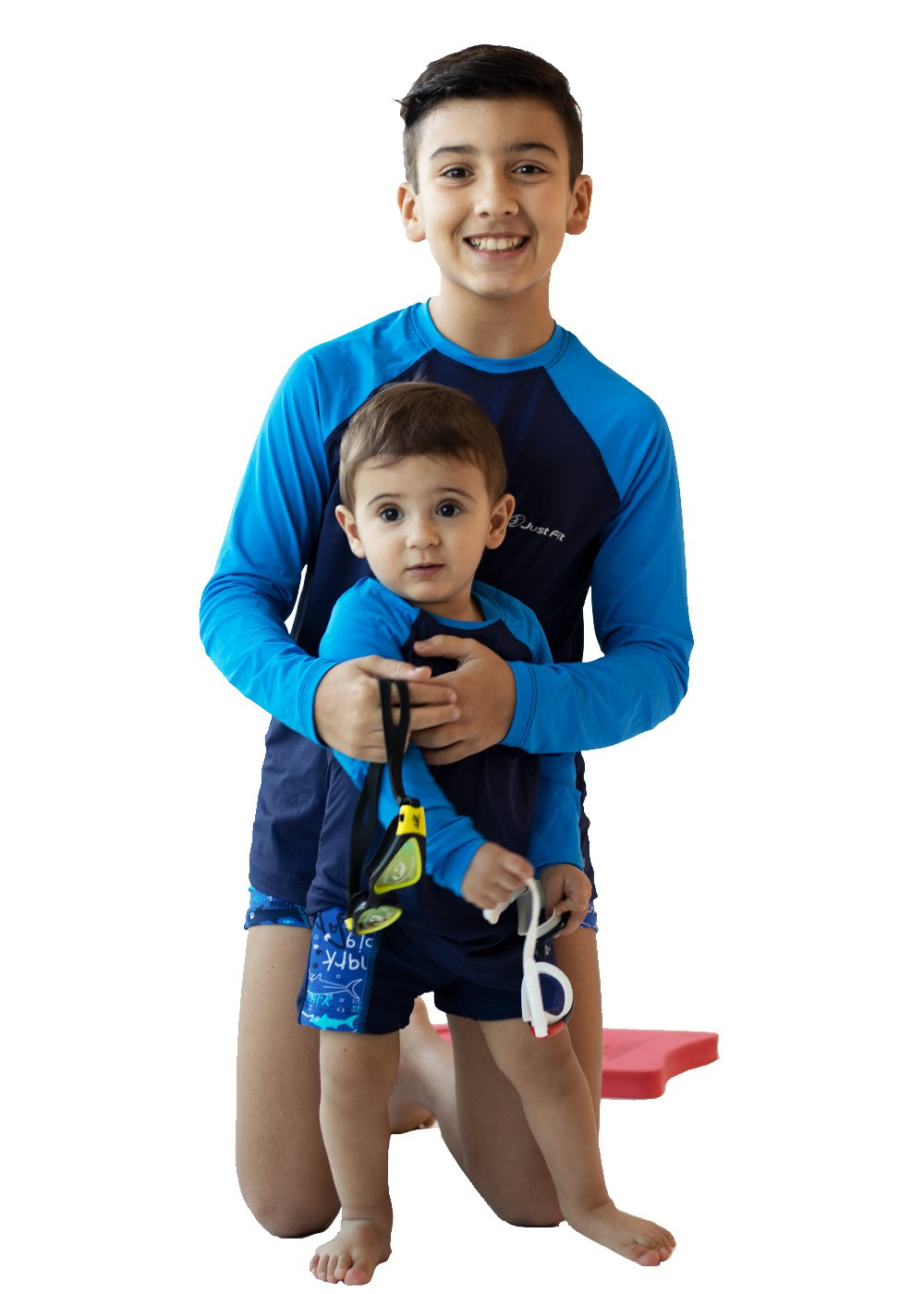 CAMISETA UV PROTECTION INFANTIL MANGA LONGA RAGLAN - MARINHO/AZUL FLÚOR
