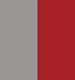 Cinza/Vermelho