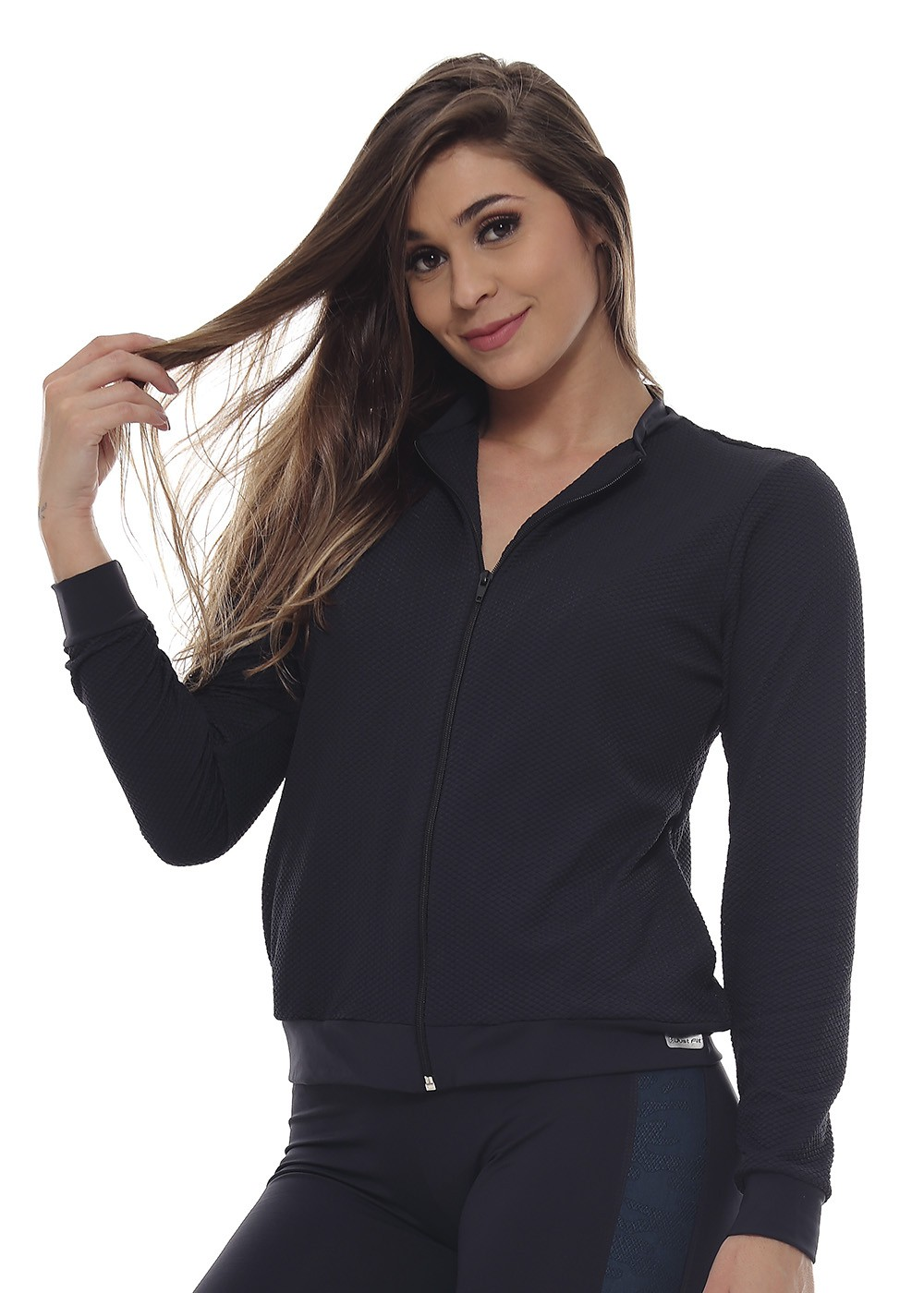 JAQUETA FASHION FEMININA JUST FIT - PRETO TULIPA