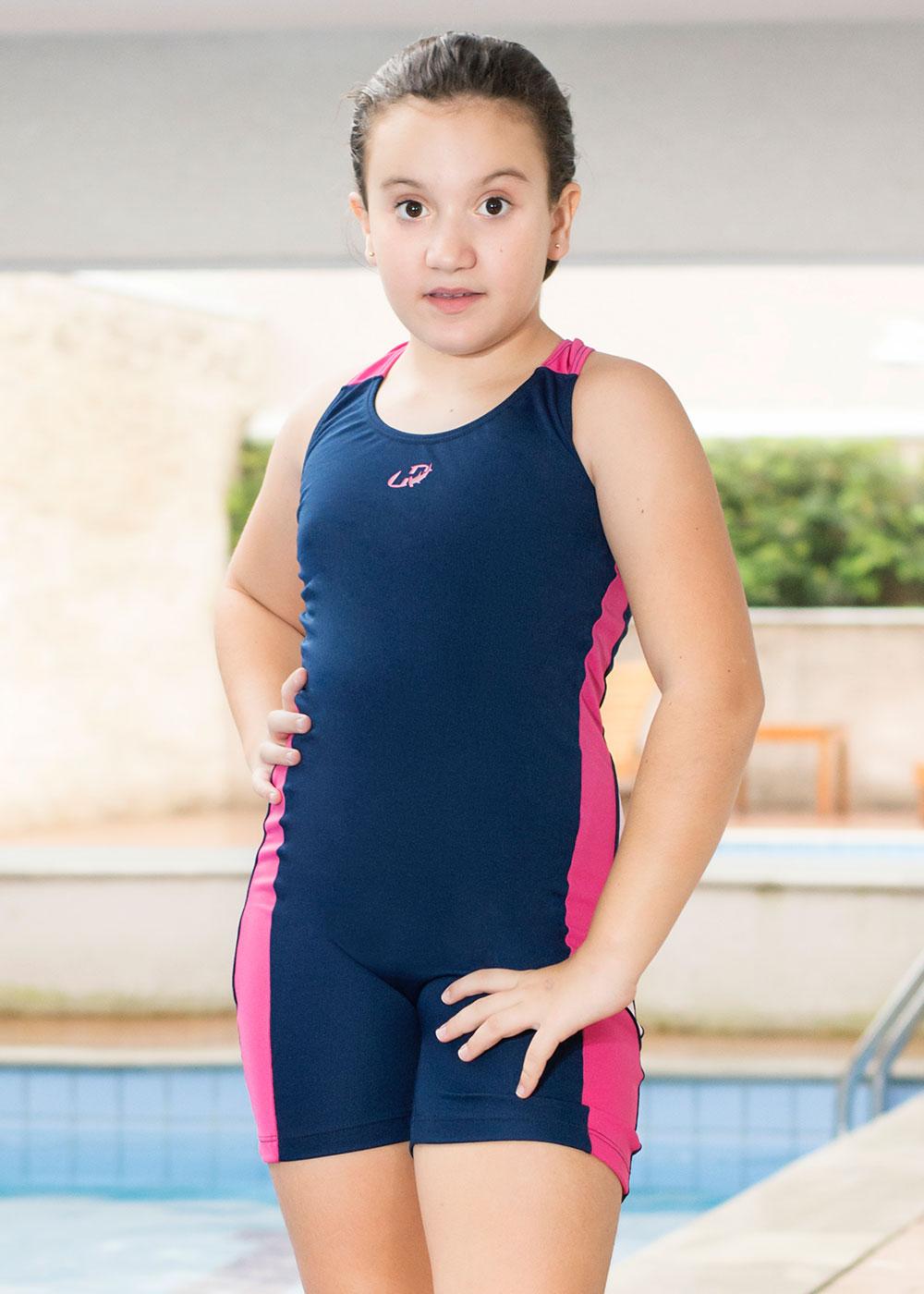 MACAQUINHO KIDS HELANCA GIRLS HAMMERHEAD - MARINHO/PINK FLÚOR