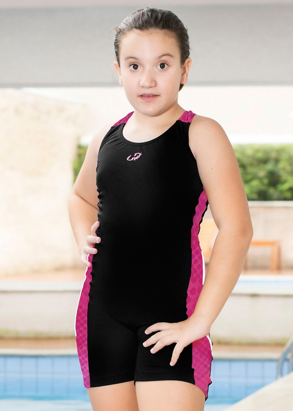 MACAQUINHO KIDS HELANCA GIRLS HAMMERHEAD - PRETO/PINK RELEVO