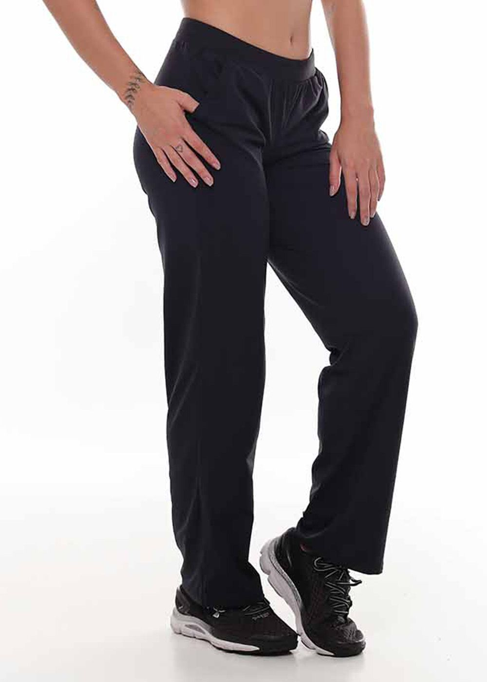 CALÇA PANTALONA VIVA LIGHT JUST FIT - PRETO