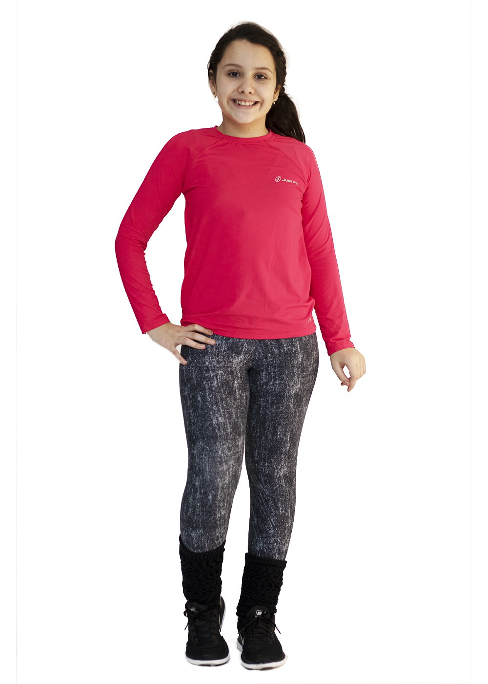 POLAINA INFANTIL JUST FIT - PRETO