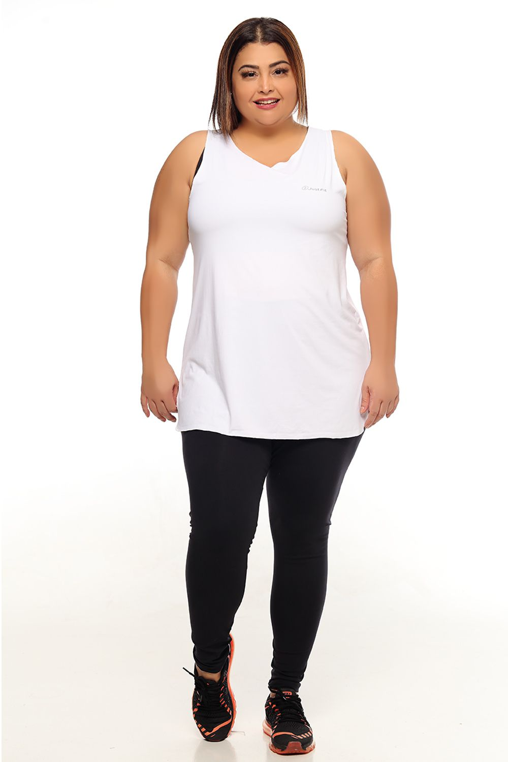 REGATA FEMININA RECORTE PLUS SIZE