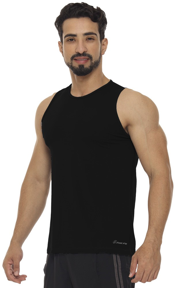 REGATA MASCULINA BASIC JUST FIT - PRETO