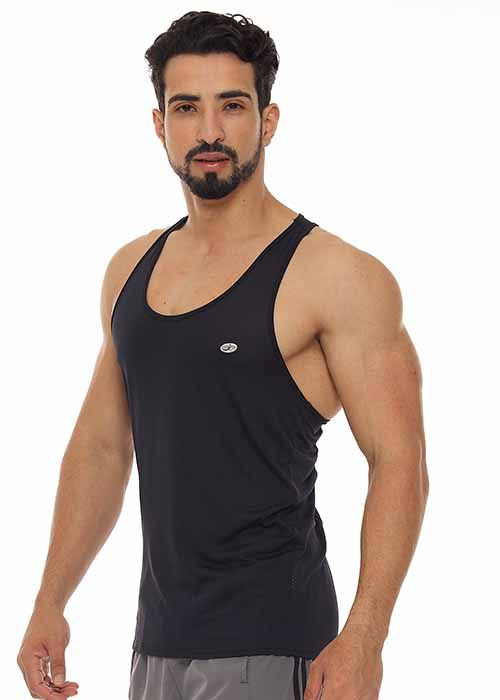 REGATA MUSCLE FIT MASCULINA JUST FIT - PRETO