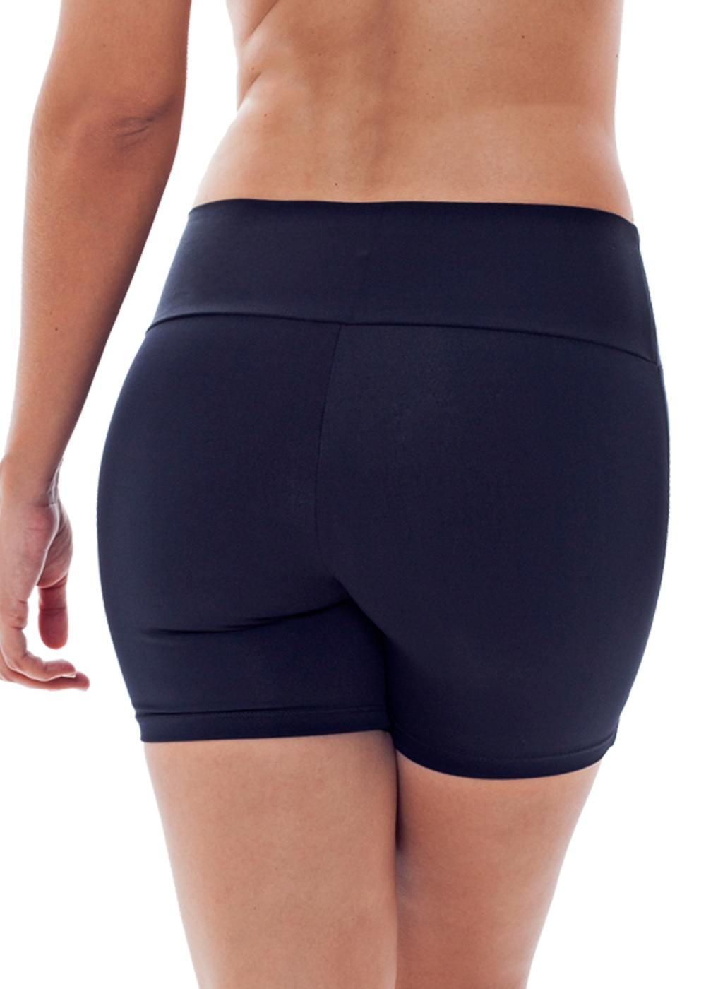 SHORTS LISO FEMININO JUST FIT - PRETO