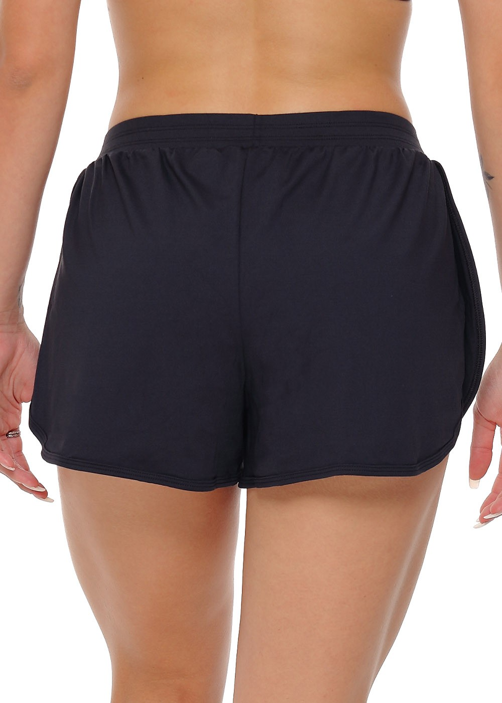 SHORTS RUNNING FEMININO JUST FIT - PRETO