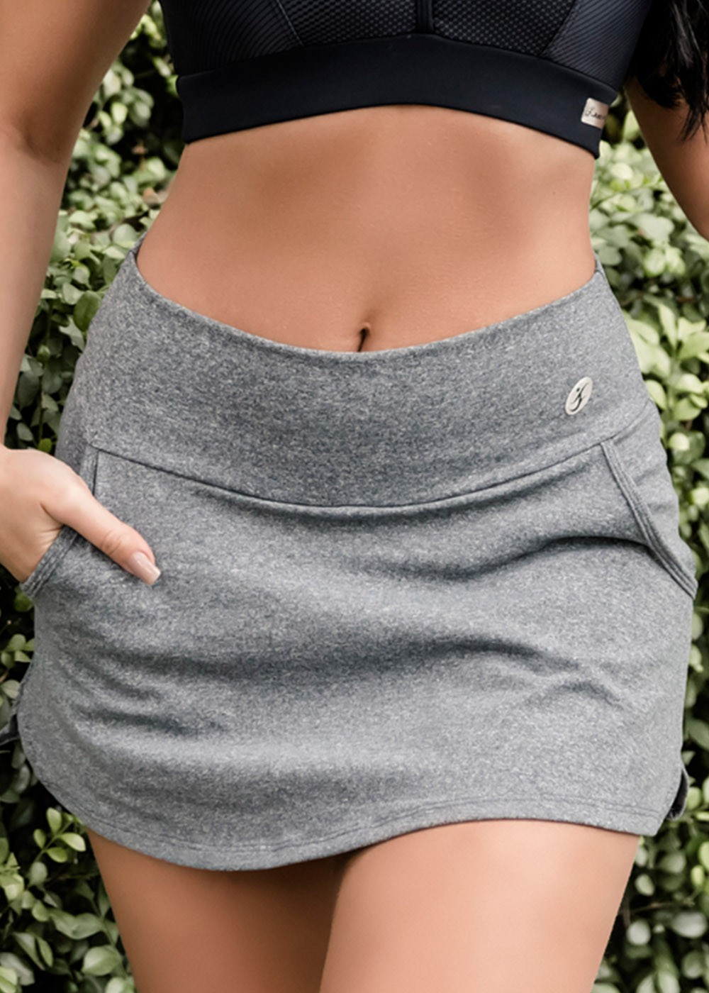 SHORTS SAIA FIT UP JUS FIT - MESCLA