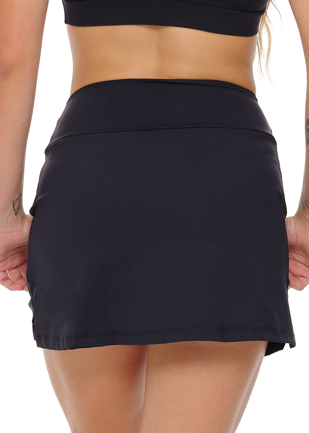 SHORTS SAIA FIT UP JUS FIT - PRETO