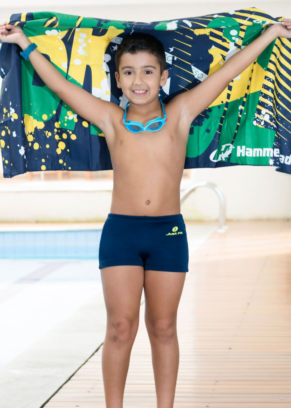 SUNGA BOXER INFANTIL HELANCA JUST FIT - MARINHO