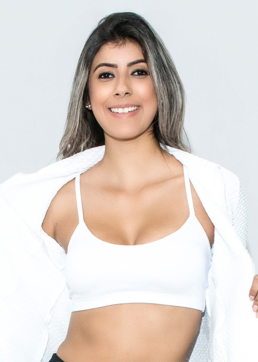 TOP BOJO ALÇA JUST FIT - BRANCO