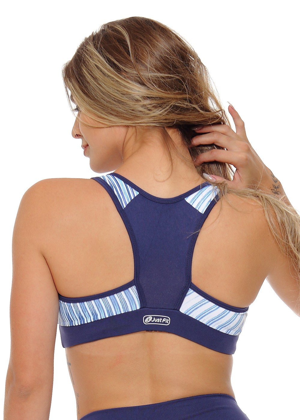 TOP CROSS JUST FIT - MARINHO/RISCA AZUL