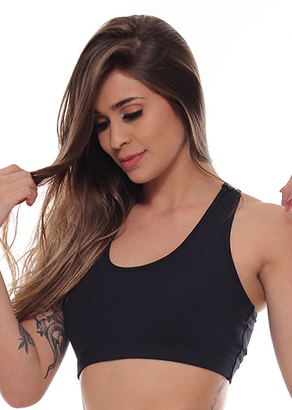 TOP NADADOR JUST FIT - PRETO