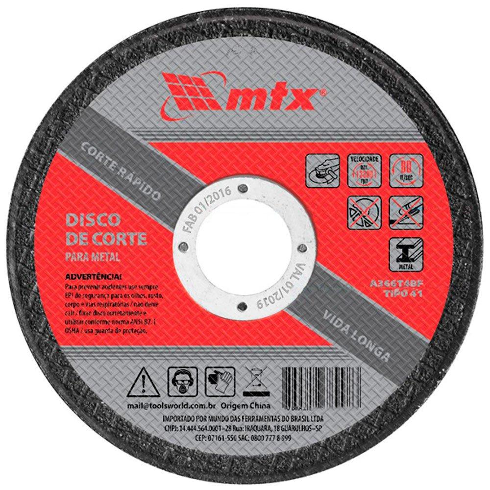 Disco de Corte 115X1,0X22mm - Mtx