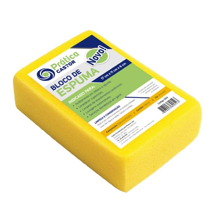 Bloco espuma amarela 17x11x6cm - Castor Linha Prática