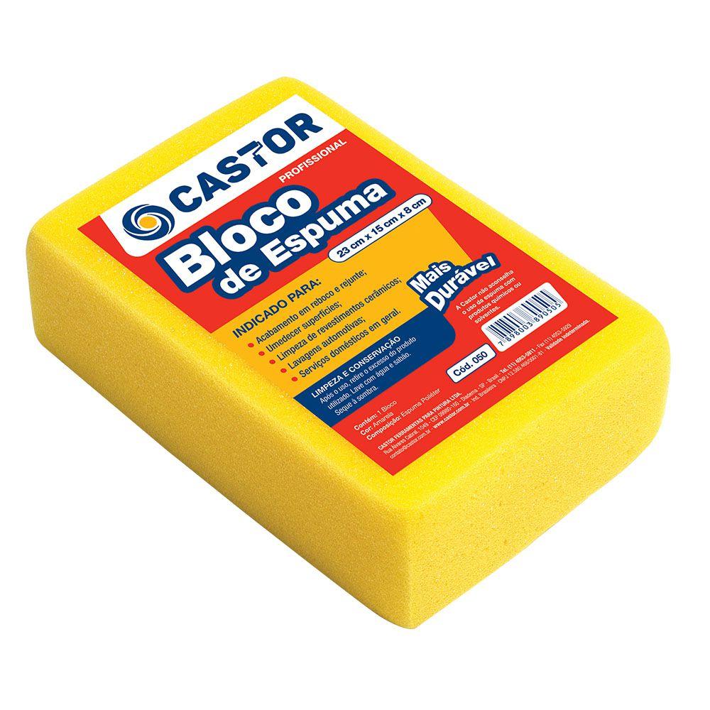 Bloco espuma amarela 8x15x23cm - Castor