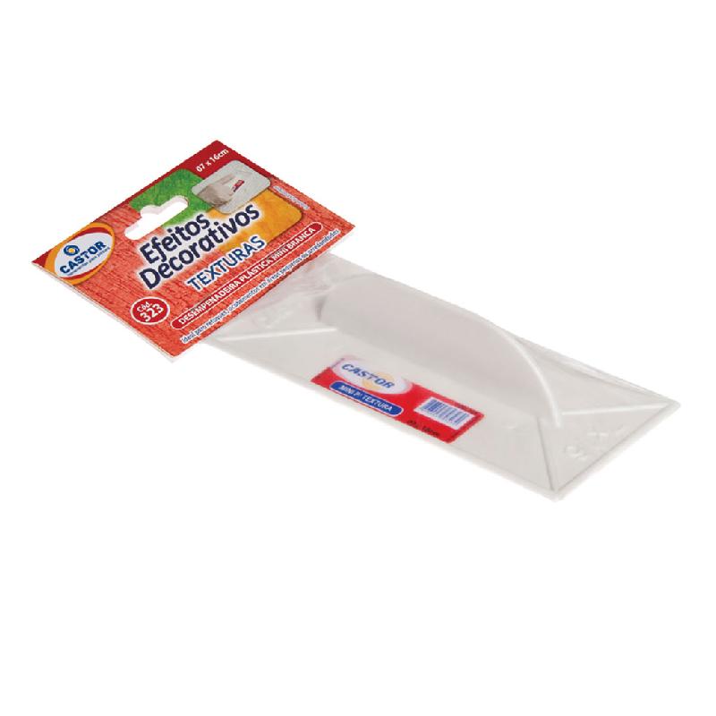 Desempenadeira plástica PVC 07x16cm Para grafiato - Castor