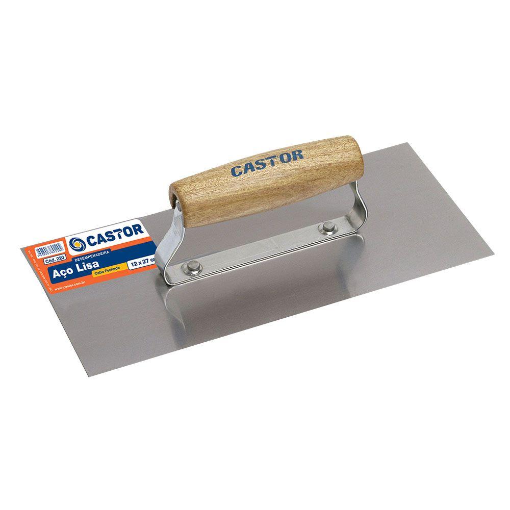 Kit Desempenadeiras de Aço 12x27 Lisa e Dentada - Castor