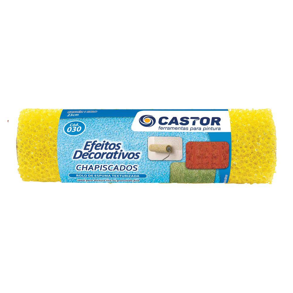 Rolo espuma texturizado 23 cm s/cabo - Castor