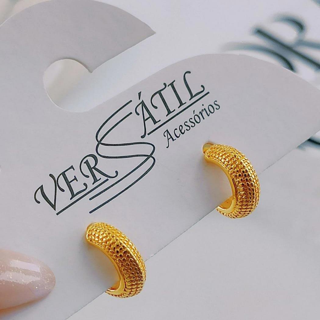 Argolinha Dourada Texturizada