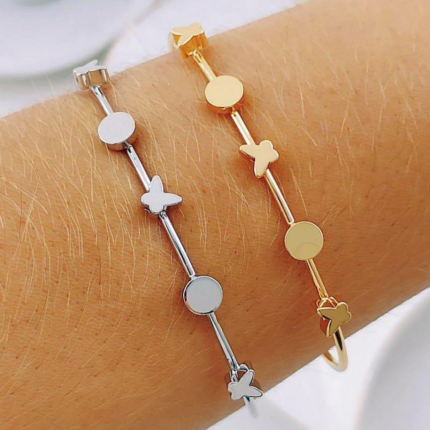 Bracelete de Borboleta e Bolinha