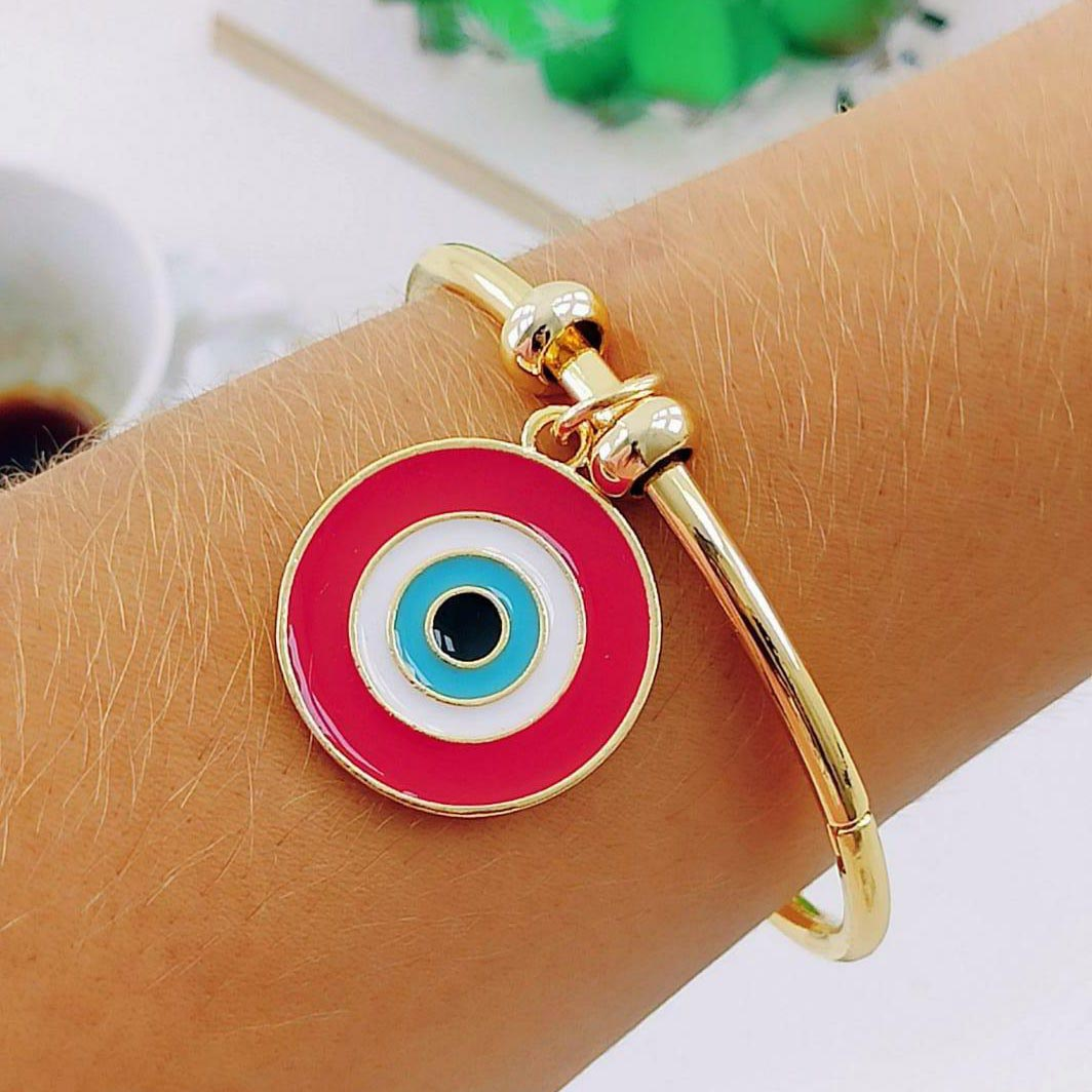 Bracelete Olho Grego Vermelho