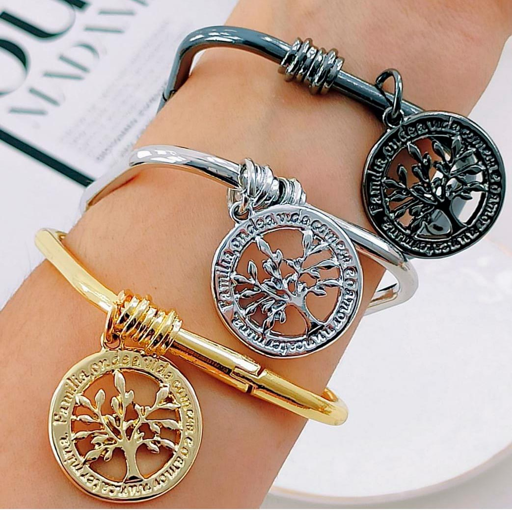 Bracelete Quadrado ''Árvore da Vida''