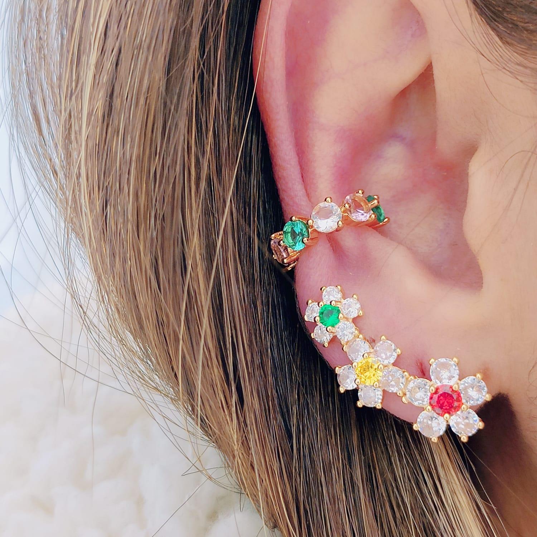 Brinco Ear Cuff Rainbow