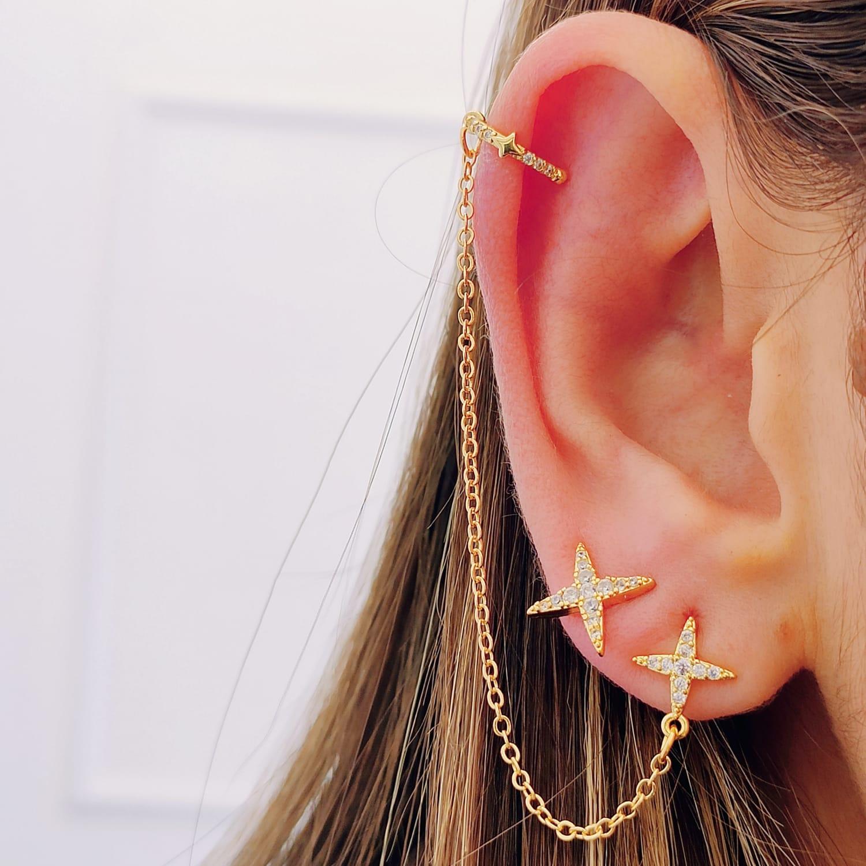 Brinco Ear Line Estrela