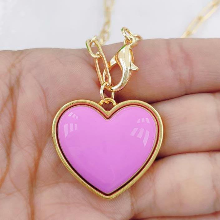 Colar com Pingente Coração