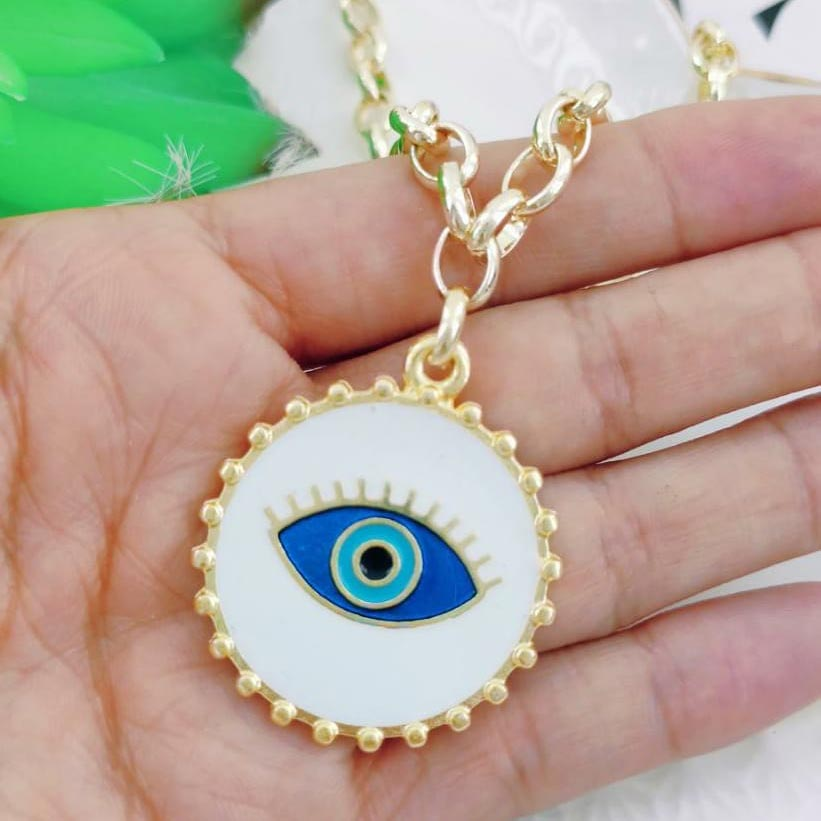 Colar Olho Grego Branco