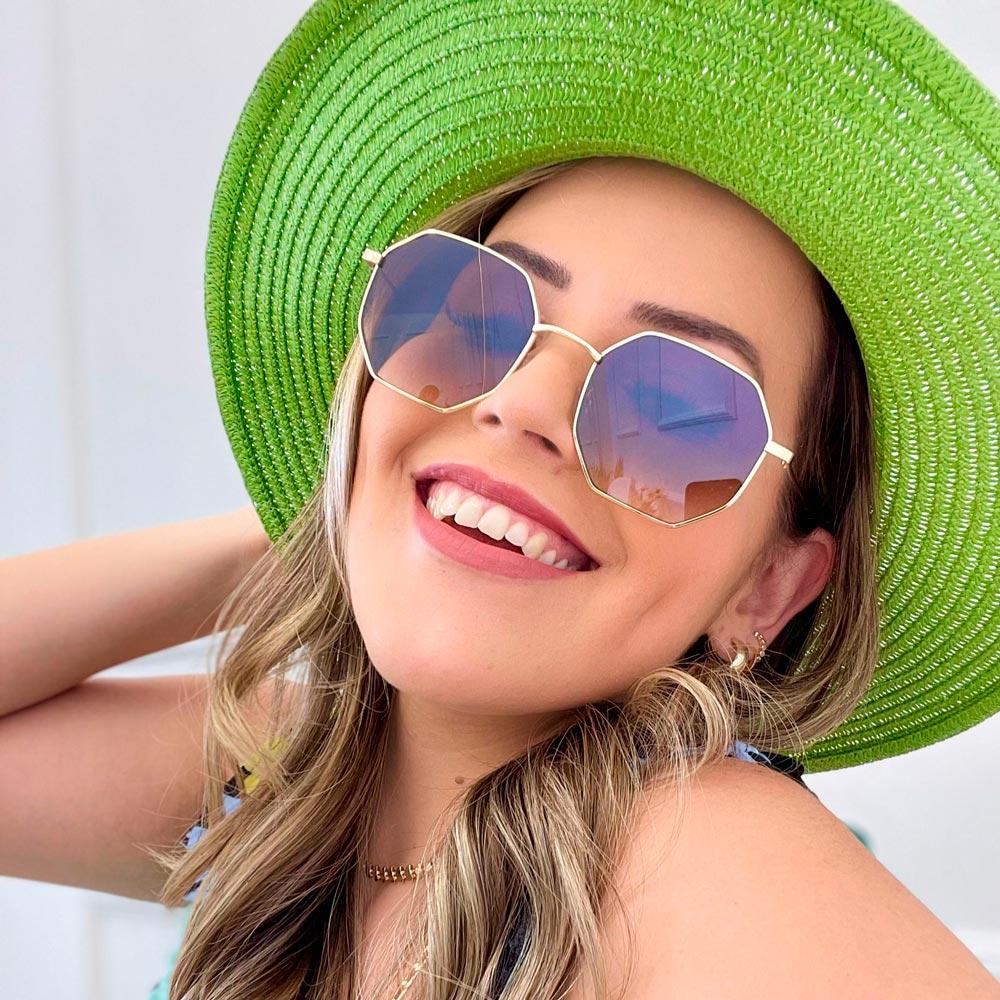 Óculos de Sol Octogonais