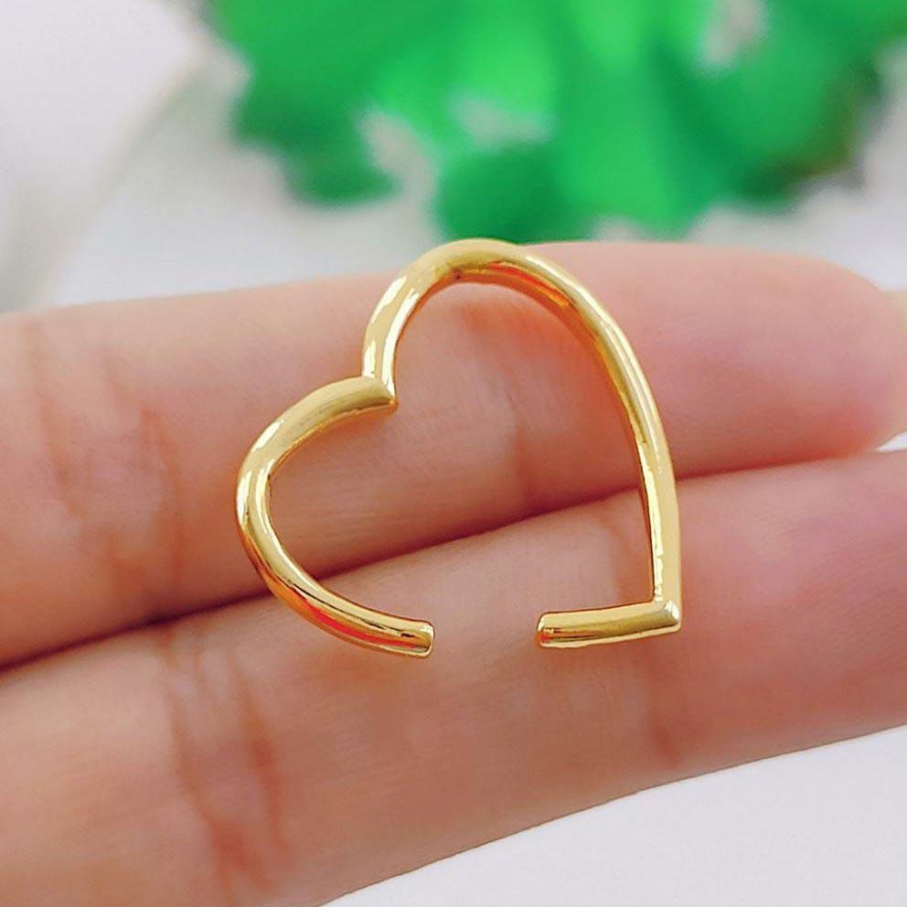 Piercing Fake Liso de Coração