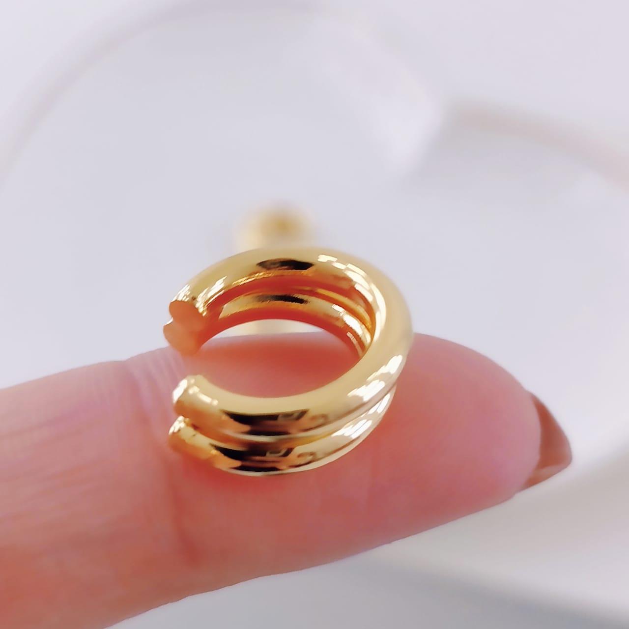 Piercing Fake Duplo Dourado