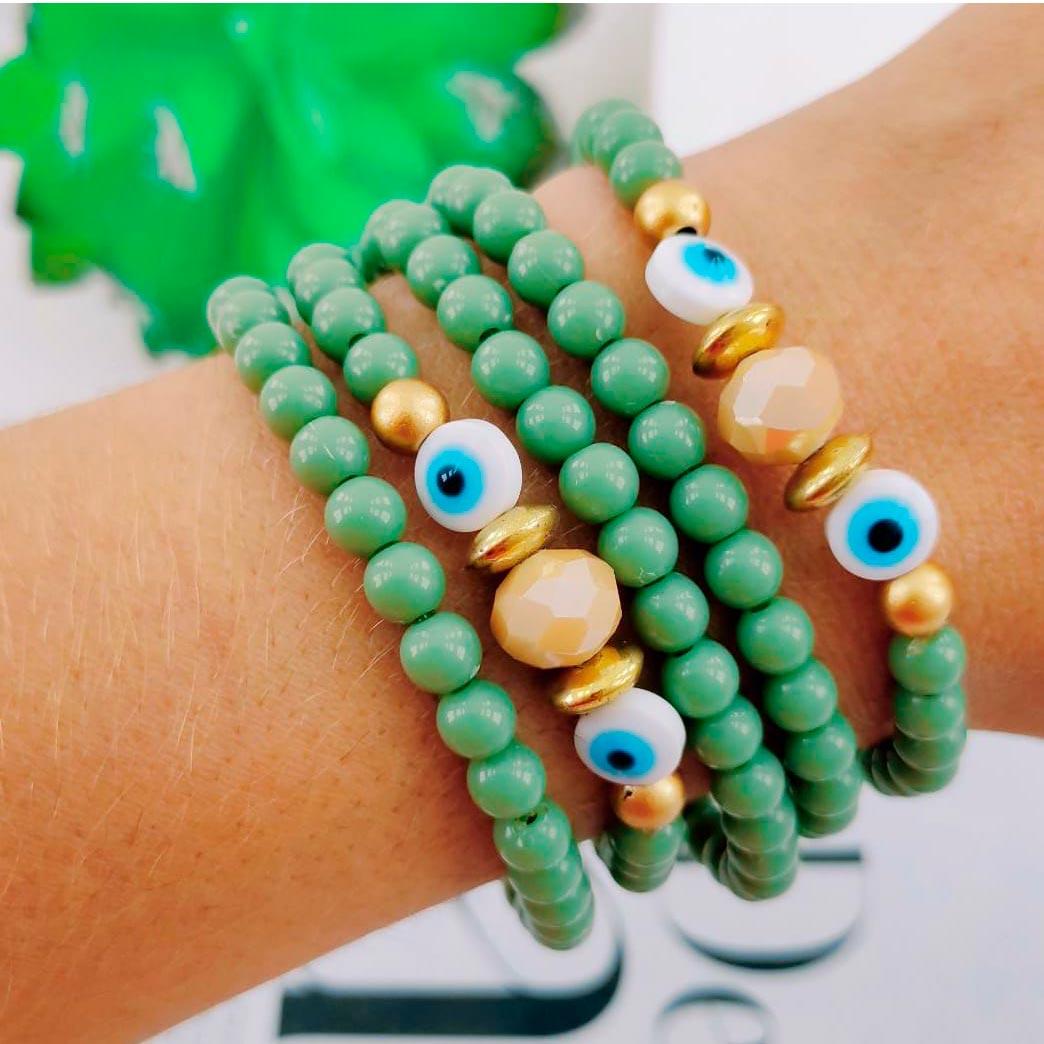 Pulseira Verde Olho Grego
