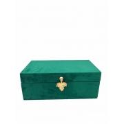 Caixa Veludo Verde P
